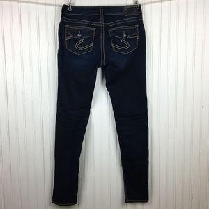 Silver Suki Mid Super Skinny Jeans Dark Wash